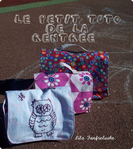 cartables Tutoriel: cartable et lunchbox