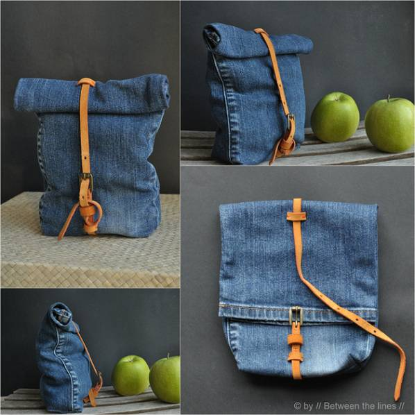 lunchbag jeans Recycler un jean en lunch bag