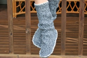 chausson-chaussette-pull