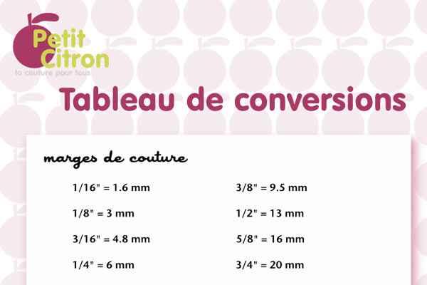 A Telecharger Un Tableau De Conversions De Mesures Petit Citron Petit Citron