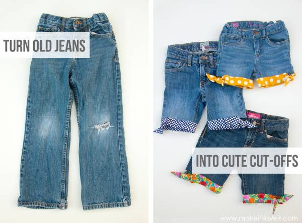 short-Jeans-ourlet-colore
