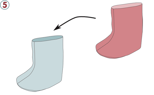 Bottes chaussons - étape n°5