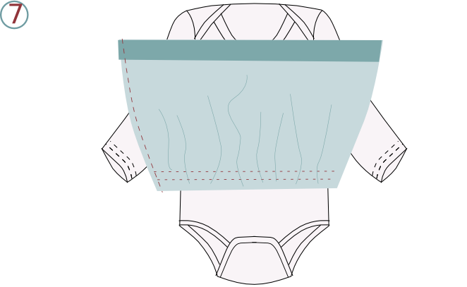 Robe body - étape n°7