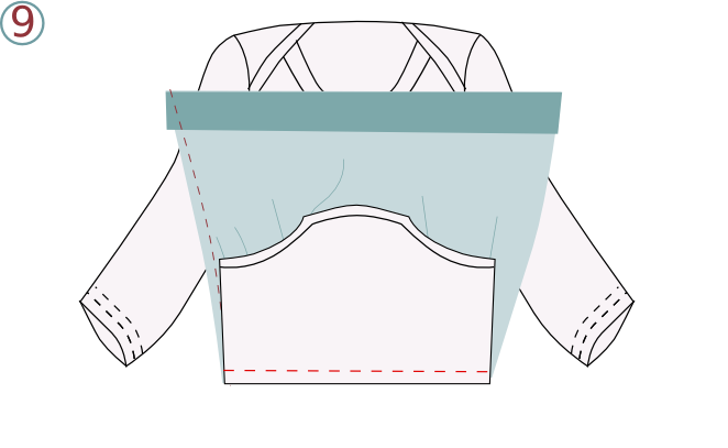 Robe body - étape n°9
