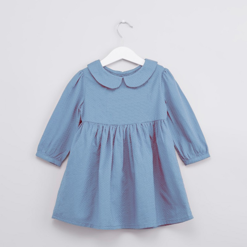 Robe Claudinette, col claudine, manches longues 6-14 ans